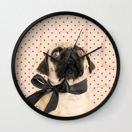 Trés Chic Pug Wall Clock