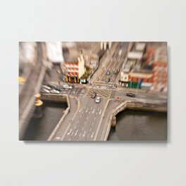 Dublin city center aerial view Metal Print