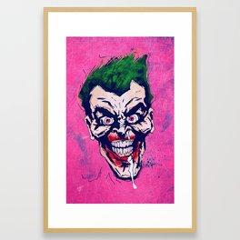 The Joker abstract Framed Art Print