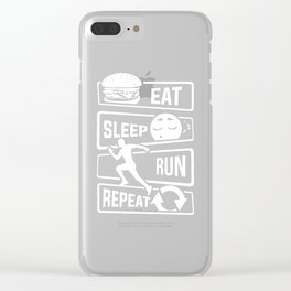 Eat Sleep Run Repeat - Running Runner Fitness Clear iPhone Case