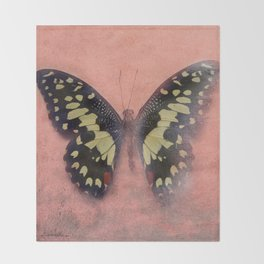 Vintage Butterfly 3 Throw Blanket
