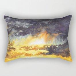 Watercolor Sky No 5 - colorful rain clouds Rectangular Pillow