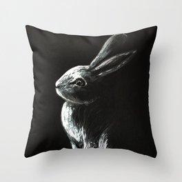 Bunny Painting Throw Pillow
