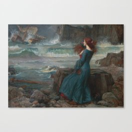 John William Waterhouse - Miranda Canvas Print