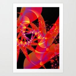 Firecracker Red Art Print