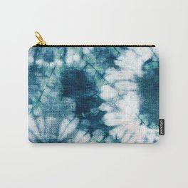 Blue Green Tie-Dye Abstract Carry-All Pouch