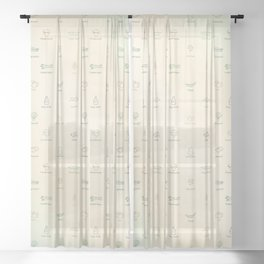 Veggie Diner Sheer Curtain