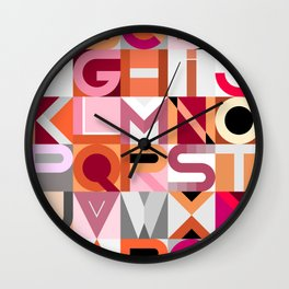 Geometric Design Alphabet Wall Clock
