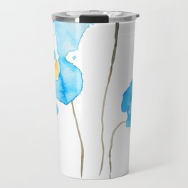 abstract Himalayan poppy flower watercolor Travel Mug