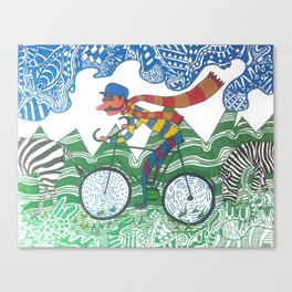 Ze Biker Canvas Print