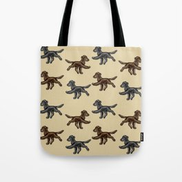 Flat Coated Retrievers Black and Liver V2 Tote Bag