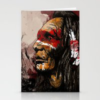 native Stationery Cards featuring Native by DGundlachDesigns