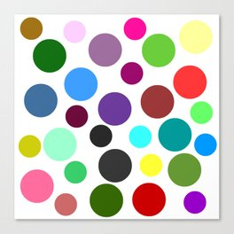 Spotty Colorful Circles Canvas Print