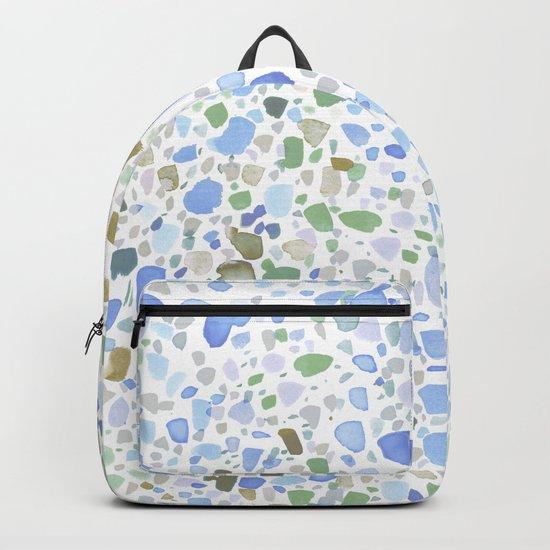 Magic Terrazzo Blue Backpack