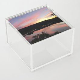 Summer Solstice Sunset Across The Big Eddy Acrylic Box