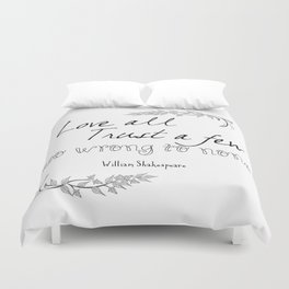 Shakespeare Quote Duvet Cover