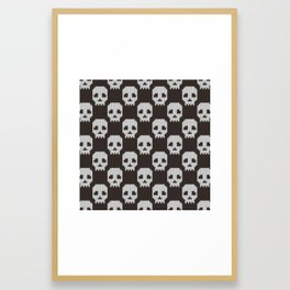 Knitted skull pattern Framed Art Print