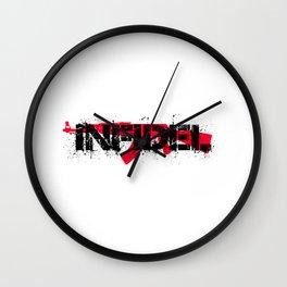 Infidel AK47 Rifle Red Wall Clock
