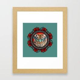 Masquerade Bengal Tiger Mandala Framed Art Print