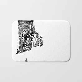 Typographic Rhode Island Bath Mat