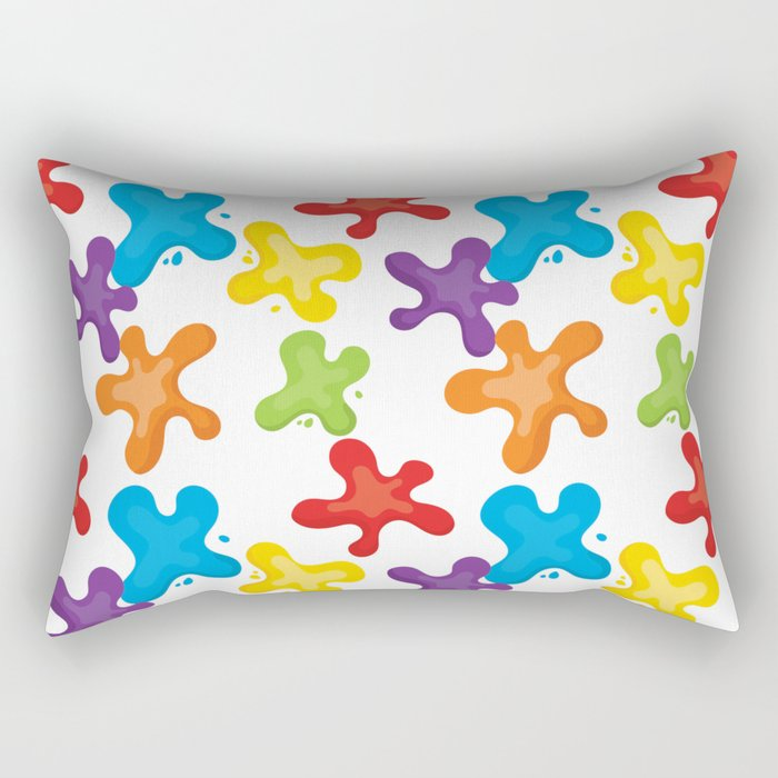 Paint splatters Rectangular Pillow