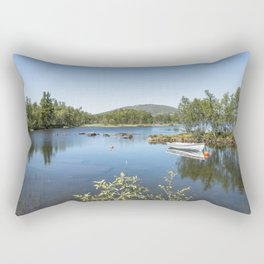 fjord in norway Rectangular Pillow
