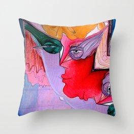 Bird Eye Man Throw Pillow