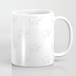 Line Elephant March (White) Coffee Mug