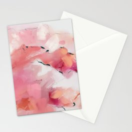 Pink candy mountains Stationery Cards