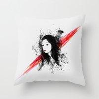 melissa smith Throw Pillows featuring Melissa by Josh Belden