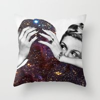 eugenia loli Throw Pillows featuring Dependable Relationship by Eugenia Loli