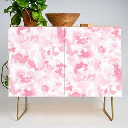 Abstract Flora Millennial Pink Credenza