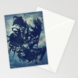 Arty Abstract Blue Stationery Cards
