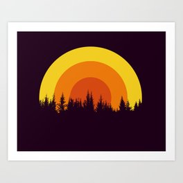 summer mountain Art Print