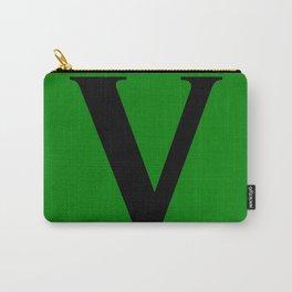 V MONOGRAM (BLACK & GREEN) Carry-All Pouch