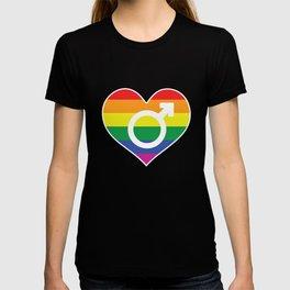 RAINBOW HEART GAY LOVE GIFT T-shirt