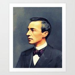 Sergei Rachmaninoff, Music Legend Art Print