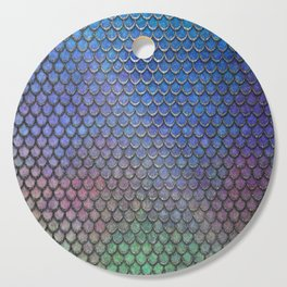 Colorful Silver II Mermaid Scales Cutting Board