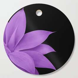 Agave Finesse #10 - Purple on Black #tropical #decor #art #society6 Cutting Board