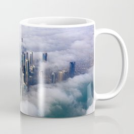 Doha Quatar Cityscape From Above The Clouds Ultra HD Coffee Mug