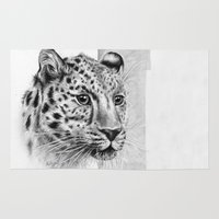 leopard Area & Throw Rugs featuring Leopard by Anna Tromop Illustration