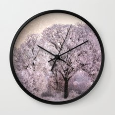 Winter Oak Fantasy Wall Clock