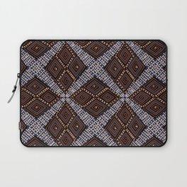 African Mud Cloth   Diamond Patterns Earth Tones Laptop Sleeve