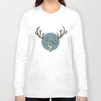 antlers Long Sleeve T-shirts featuring Antlers by Rachel Russell