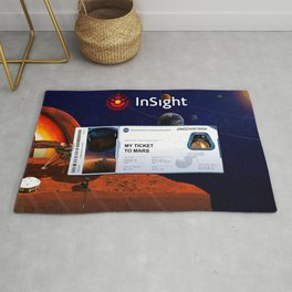 Mars InSight Ticket Rug