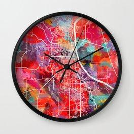 Leavenworth map Kansas KS 2 Wall Clock