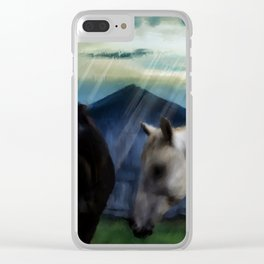 Outside the Barn Clear iPhone Case