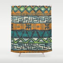 Grunge african pattern Shower Curtain