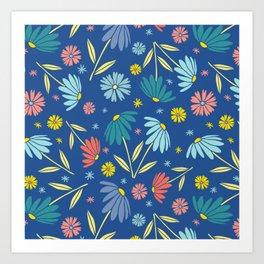 Garden Flowers Style F Art Print