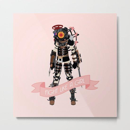 Fight Like a Girl: Big Sister Metal Print